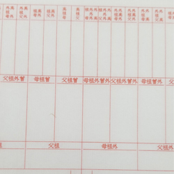 通用家譜(自己填寫)-一函一冊